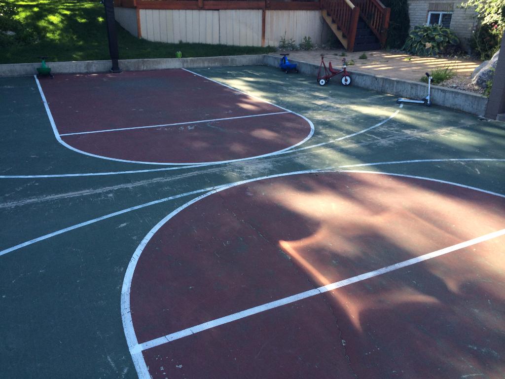 Basketball court repair utah parkin tennis courts for Basketball court cost